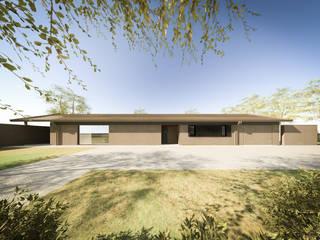 032_Casa in collina: Ingresso & Corridoio in stile  di MIDE architetti