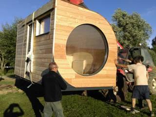 Le Nid, un habitat modulaire nomade Alter Ec'Home& Espaces de bureaux scandinaves Bois massif Effet bois
