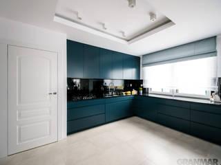 GRANMAR Borowa Góra - granit, marmur, konglomerat kwarcowy Cocinas de estilo moderno Granito Negro