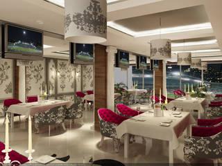 MOGAN GROUP Mimarlık Dekorasyon İnşaat LTD. ŞTİ. – hipodrom restaurant iç tasarım : rustik tarz tarz Yemek Odası
