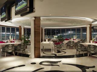 MOGAN GROUP Mimarlık Dekorasyon İnşaat LTD. ŞTİ. – erbil hipodrom iç tasarım : rustik tarz tarz Yemek Odası