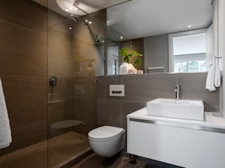WATERFRON STAY_GULMARN APARTMENTS: scandinavian Bathroom by MINC DESIGN STUDIO