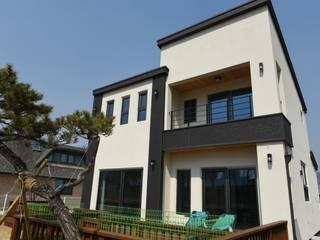 아산 송곡리 목조주택: 한다움건설의  주택