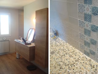 Maison Individuelle JASSANS (01) Salle de bain moderne par Florian PRESLE Moderne