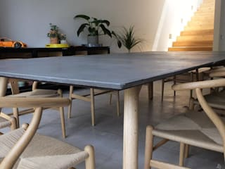 Cubiertas de Concreto para Comedor.:  de estilo  por Tres Deco