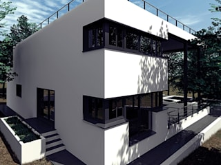 Vivienda unifamiliar + piscina Casas de estilo moderno de sm3de Moderno