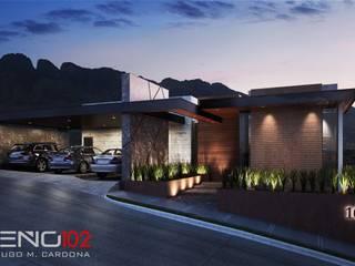 Balcones del Campestre Casas modernas de Diseño 102 Moderno