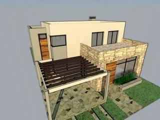 VIVIENDA FAMILIAR Casas modernas: Ideas, imágenes y decoración de Arq. Leticia Gobbi & asociados Moderno