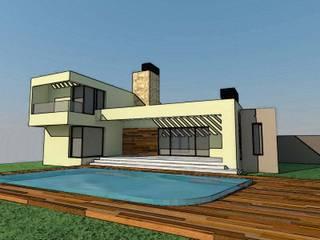 VIVIENDA UNIFAMILIAR Casas modernas: Ideas, imágenes y decoración de Arq. Leticia Gobbi & asociados Moderno
