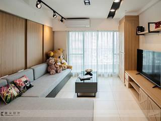 Livings de estilo industrial de 寬森空間設計 Industrial