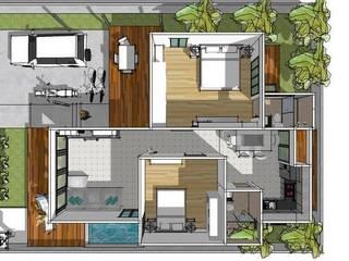บ้านชั้นเดียว 2 ห้องนอน:   by iamarchitex