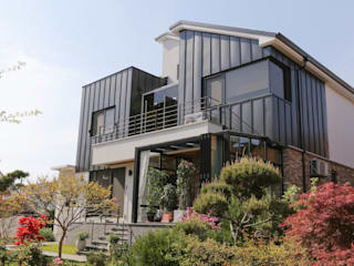 THE JK Modern houses Aluminium/Zinc Grey