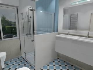 REFORMA BAÑO EN LAUKARIZ Baños de estilo moderno de DEDISEÑO Interiorismo Moderno