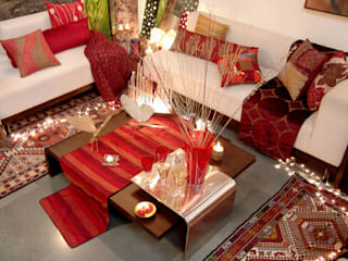 Home projects Zeba India Pvt. Ltd. Classic style living room Red