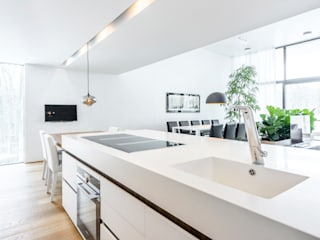 Durat kitchen counter with integrated sinks:   by Durat