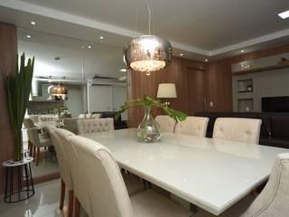 """Apartamento Madison Residence """"Aconchego e Funcionalidade"""" Salas de jantar modernas por Jorge Machado Arquitetos Moderno"""