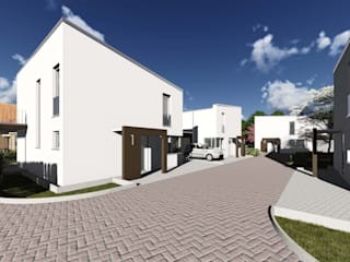 Neubausiedlung als Dorf-Konzept in Bielefeld-Ummeln:   von Bas Architekten