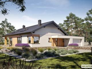 Projekt domu Daniel III G2  - harmonia nowoczesności i przytulności : styl , w kategorii Domy zaprojektowany przez Pracownia Projektowa ARCHIPELAG,Nowoczesny