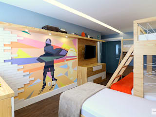 Dormitorios de estilo tropical de Studio Prima Arq & Design Tropical