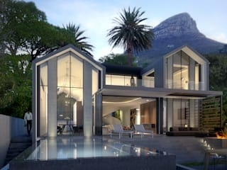 Tamboerskloof House 1 :  Houses by GSQUARED architects