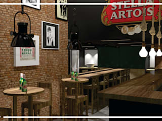 Pub Brotherhood por Daleffe e Marques Arquitetura Moderno