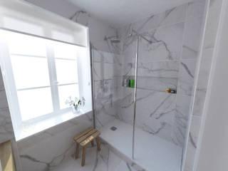 Création d'un appartement dans un ancien couvent Salle de bain classique par La Fable Classique