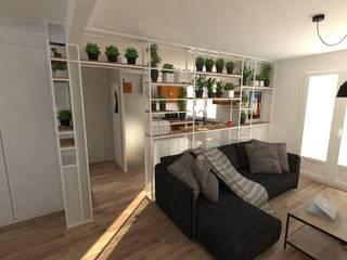 Aménagement d'une maison Salon minimaliste par La Fable Minimaliste