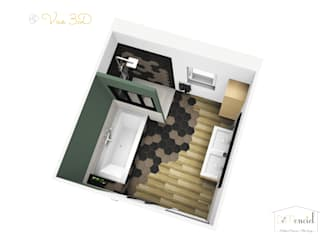Rénovation d'une salle de Bain: Salle de bains de style  par Démenciel