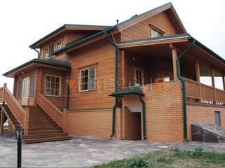 Деревянный дом из клееного бруса. от 'Версия' Архитектурная Студия