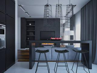 Минималистичная квартира в ЖК Солнечный Кухня в стиле минимализм от JoinForces studio Минимализм