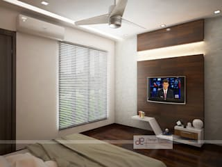Villa at Jay Pee Greens Greater Noida :  Bedroom by Design Essentials,Modern
