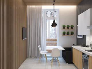 Квартира для молодого ученого Кухня в скандинавском стиле от JoinForces studio Скандинавский