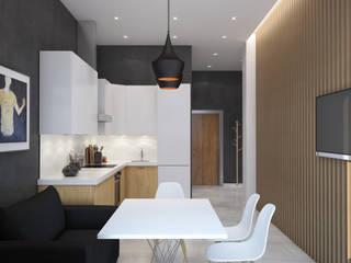 Квартира для молодого ученого: Кухни в . Автор – JoinForces studio