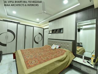M.M Mehta Ji Modern style bedroom by MAA ARCHITECTS & INTERIOR DESIGNERS Modern