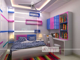 Residence at Rohini, New Delhi:  Nursery/kid's room by Design Essentials,Modern