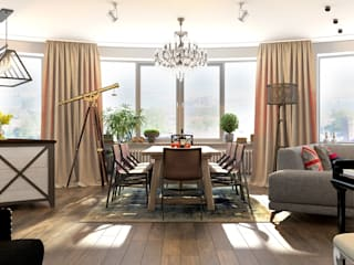 Столовая: Столовые комнаты в . Автор – Студия Антона Базалийского