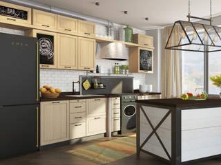 Кухня-Столовая: Кухни в . Автор – Студия Антона Базалийского