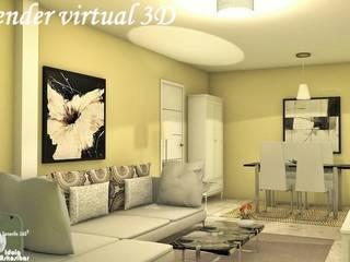 Home staging virtual - Renders 3D -Sala comedor:  de estilo  de Home Staging Tenerife 360º- Idoia Askasibar