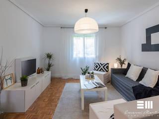 Home Staging completo con muebles de cartón en vivienda no amueblada Encarni Martínez Home Staging