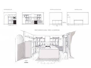 CONCEPTION CUISINE SUR MESURE - PERROIN Stéphanie, Architecte et décoratrice d'interieur 44500 la BAULE:  de style  par Stephanie Perroin