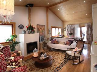 RUSTICASA Rustikale Wohnzimmer Massivholz Holznachbildung