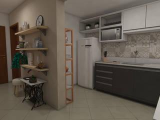 Apartamento pequeno por Bruna Torres Arquitetura + Interiores Escandinavo