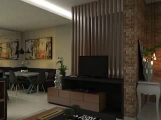 Arquitetura de Interiores Residência Salas de estar modernas por Bruna Torres Arquitetura + Interiores Moderno