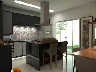 Arquitetura de Interiores Residência Cozinhas modernas por Bruna Torres Arquitetura + Interiores Moderno