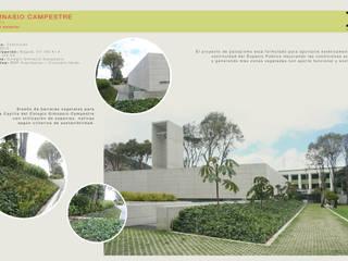 PAISAJISMO CAPILLA GIMNASIO CAMPESTRE Jardines de estilo minimalista de concepto verde SAS Minimalista