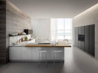 COCINA YOTA - ATELIER CASA - ARMONY CUCINE Cocinas modernas: Ideas, imágenes y decoración de ATELIER CASA S.A.S Moderno