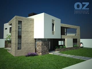 Casa MG: Casas de estilo  por OZestudioArq