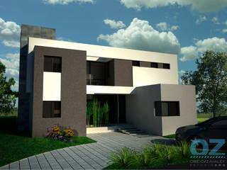 Casa Plaza: Casas de estilo  por OZestudioArq