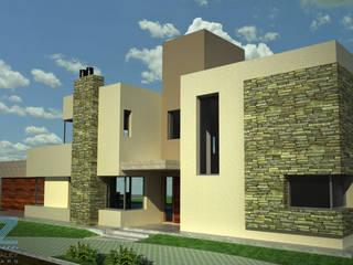 Casa Amado: Casas de estilo moderno por OZestudioArq