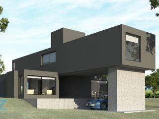 Casa Brag: Casas de estilo minimalista por OZestudioArq